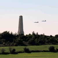 Turkish Airforce Flying Over Memorial - Gallipoli Centenary