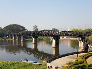 The original Bridge on the River Kwai, Kanchanaburi, Thailand